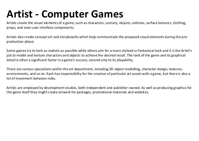 Assistant Producer - Computer GamesThe Assistant (or Junior) Producer works with a games production staff to ensure the ti...