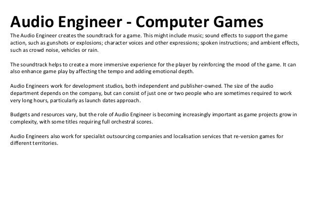 Creative Director - Computer GamesThe Creative Director is the key person during the game development process, overseeing ...
