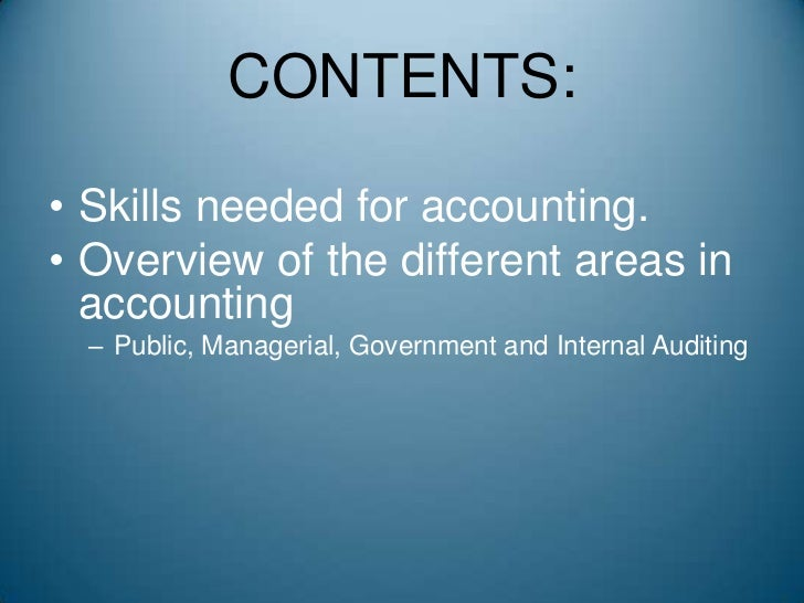 auditing analytical and logical skills Essential skills for auditors at all times, he or she should approach another individual as if they are working together as a team to reach a logical conclusion.