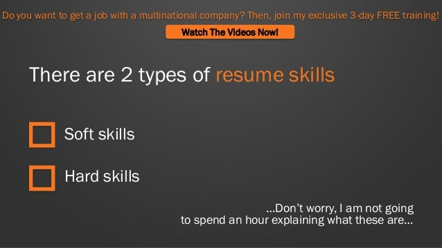 what skills should you put on your resume