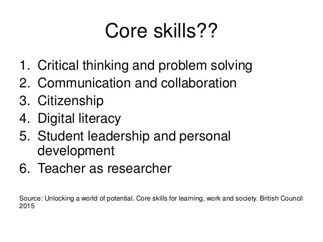 6 core skills of critical thinking
