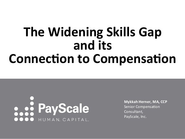 The Widening Skills Gap  and its  Connec5on to Compensa5on Mykkah Herner, MA, CCP Senior C...