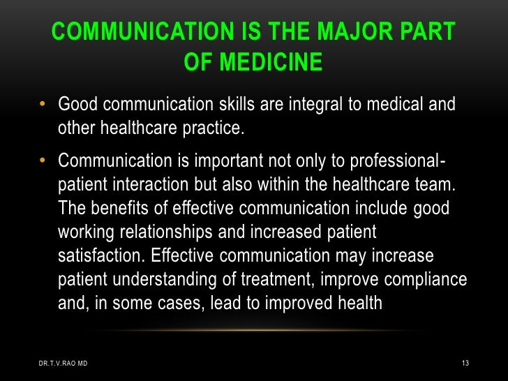 Communication for building good patient-professional relationships essay