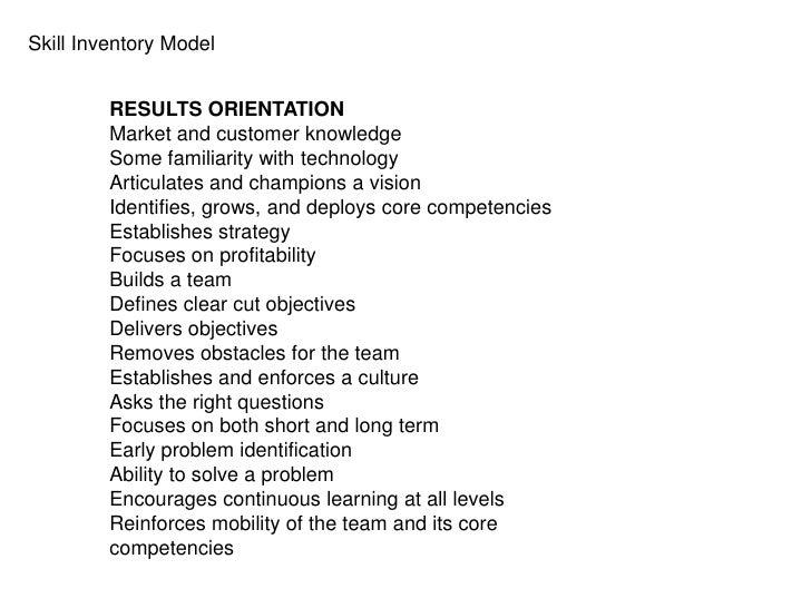 Skills inventory – Skills Inventory Template