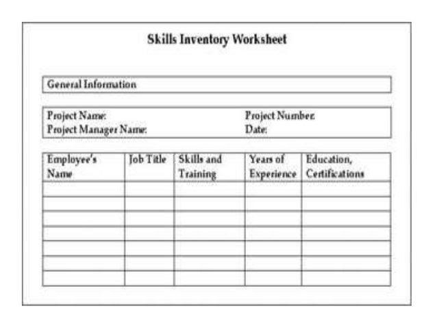 skill inventory format - Madran kaptanband co