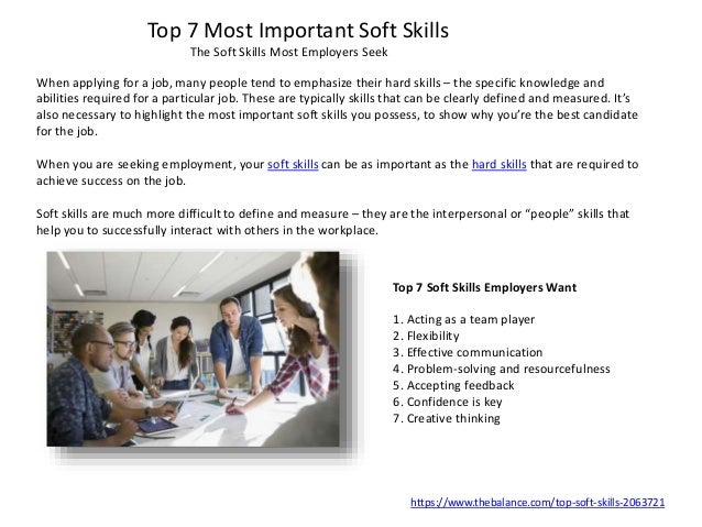 skills to possess for a job
