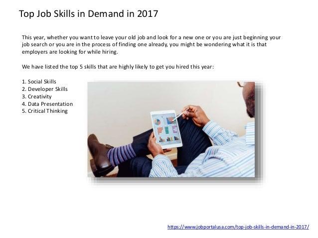 ... 24. Top Job Skills In Demand ...