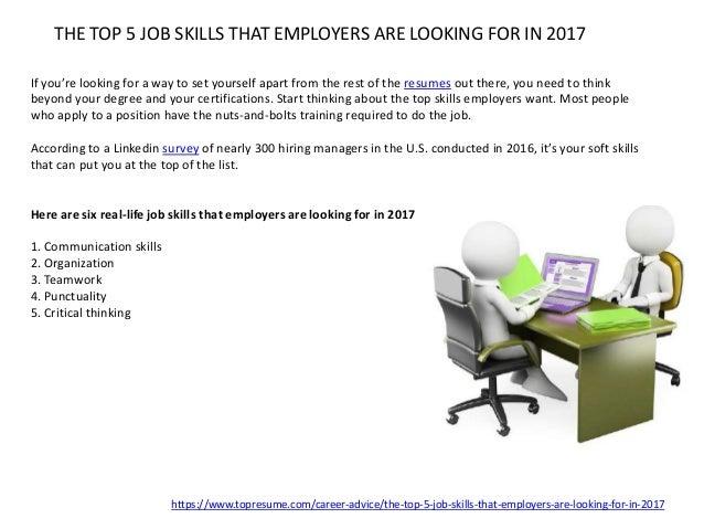 5. THE TOP 5 JOB SKILLS ...
