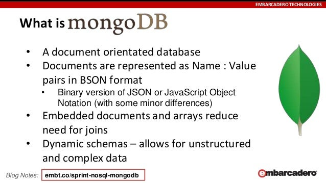 Skill Sprint NoSQL, MongoDB and FireDAC in Delphi, C++Builder and RAD…