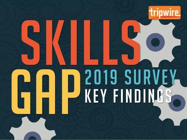 Tripwire 2019 Skills Gap Survey: Key Findings