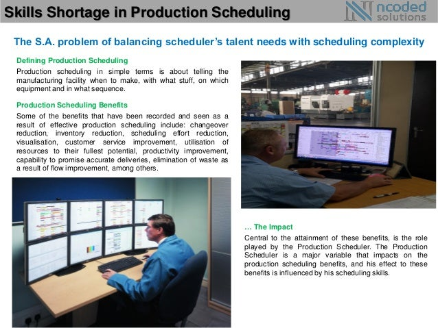 Skills Shortage In Production Scheduling Production Scheduler Job  Description   Production Scheduler Job Description