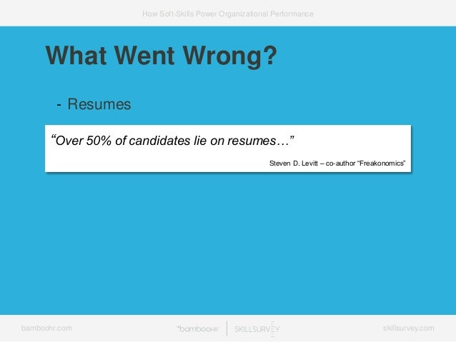 "bamboohr.com skillsurvey.com How Soft-Skills Power Organizational Performance ""Over 50% of candidates lie on resumes…"" Ste..."