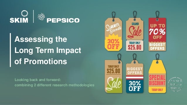 Assessing the Long Term Impact of Promotions Looking back and forward: combining 2 different research methodologies