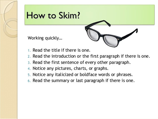 Skimming And Scanning A Key Reading Comprehension Skill