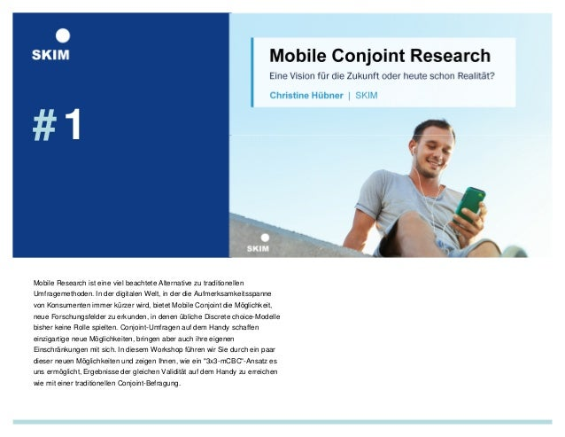 # 1  Mobile Research ist eine viel beachtete Alternative zu traditionellen  Umfragemethoden. In der digitalen Welt, in der...