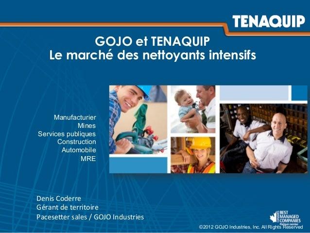 Webinaire : les soins pour la peau - TENAQUIP et GOJO Slide 3