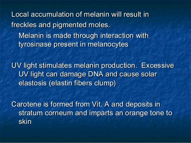 What are melanin and carotene?