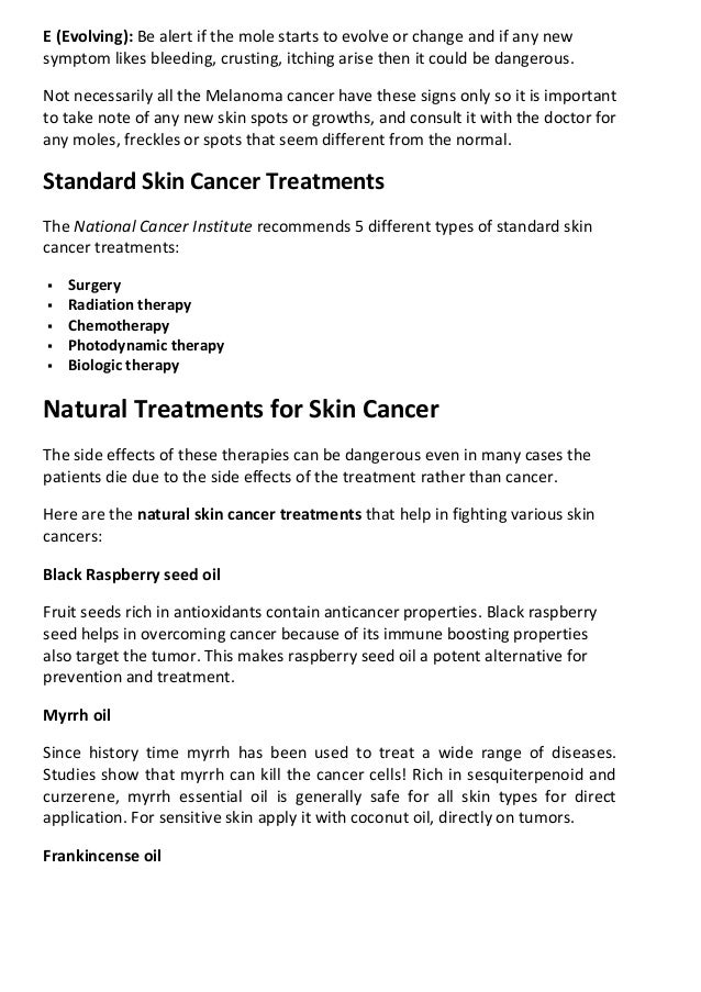 Skin Cancer Symptoms And Natural Treatments