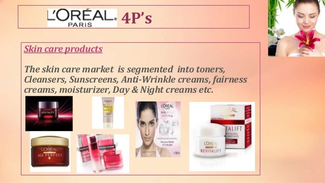 l oreal 4ps An article about the 4ps, why they should be considered to be  and before  being purchased by l'oreal, kiehls thrived on word of mouth more.