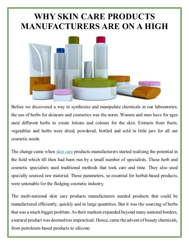 Skin care products manufacturers are on a high