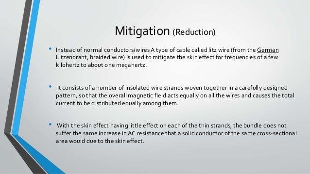 Skin effect on transmission line.