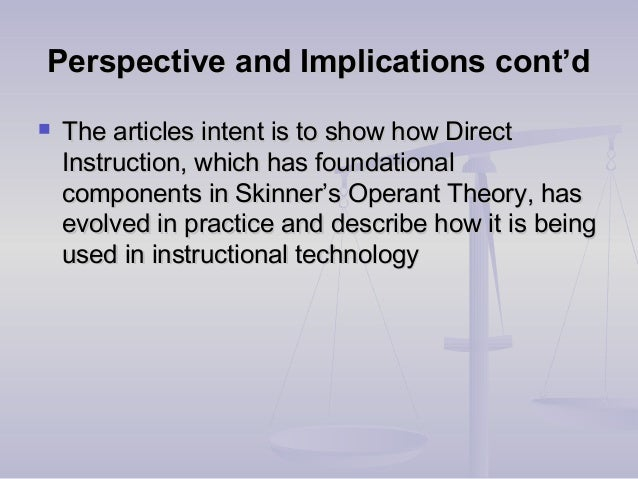 Perspective and Implications cont'dPerspective and Implications cont'd  The articles intent is to show how DirectThe arti...