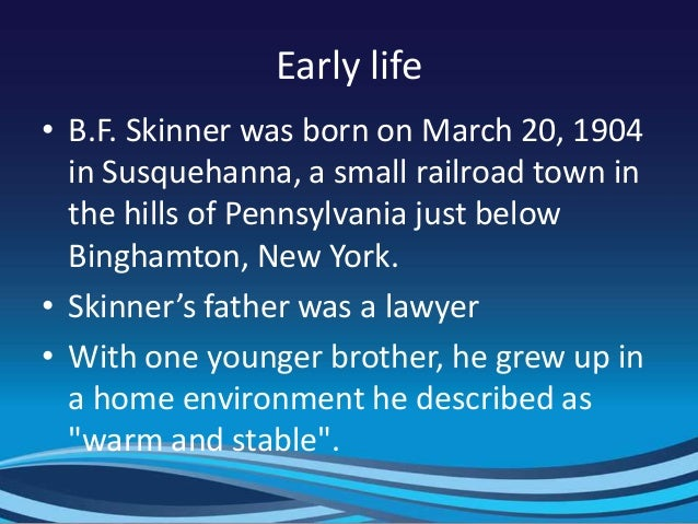 b f skinner biography Media in category b f skinner the following 4 files are in this category, out of 4 total.