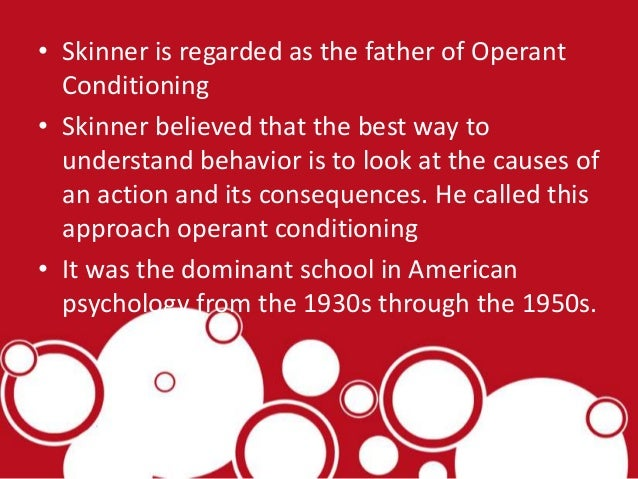 an analysis of the b f skinner and the influence in psychology Pavlov's influence on psychology in america b f skinner edgar pierce  professor of  b f skinner edgar pierce professor of psychology emeritus, at.
