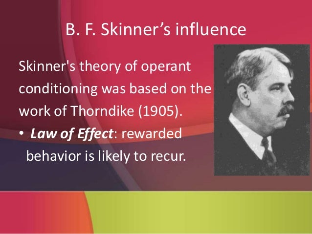 """b f skinner overview – bf skinner, """"superstition' in the pigeon"""" (p 168) in the 20th century, many of the images that came to mind when thinking about experimental psychology were tied to the work of burrhus frederick skinner."""