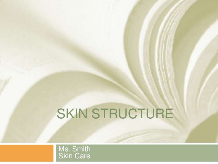 Skin Structure<br />Ms. SmithSkin Care<br />