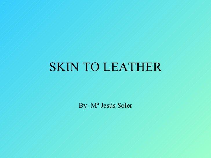 SKIN TO LEATHER   By: Mª Jesús Soler