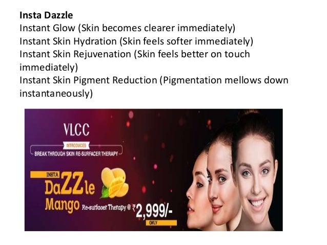 Insta Dazzle Instant Glow (Skin becomes clearer immediately) Instant Skin Hydration (Skin feels softer immediately) Instan...