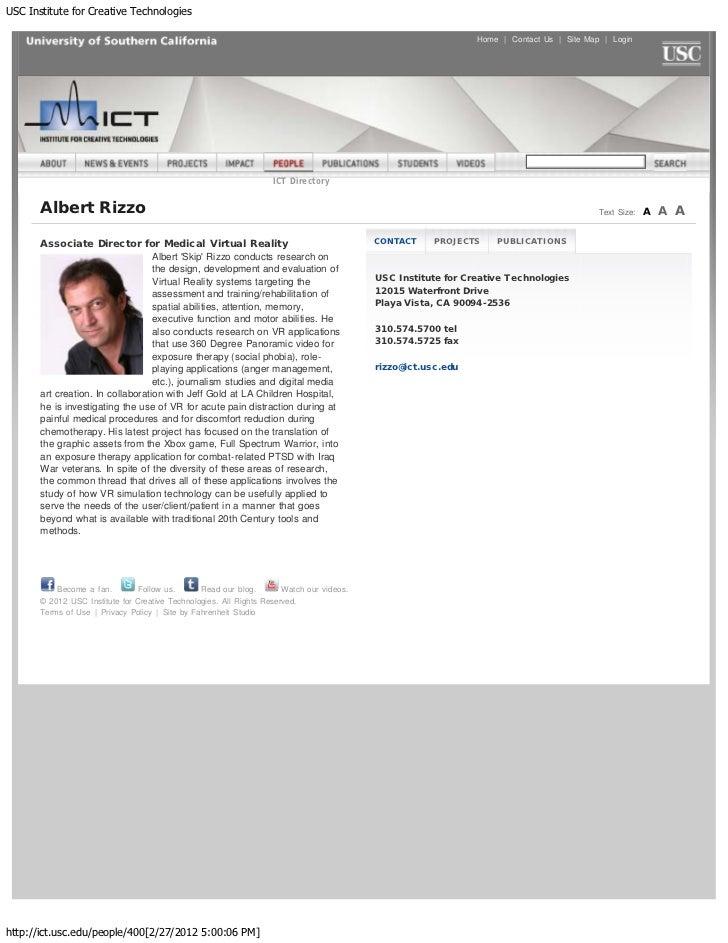 USC Institute for Creative Technologies                                                                                   ...
