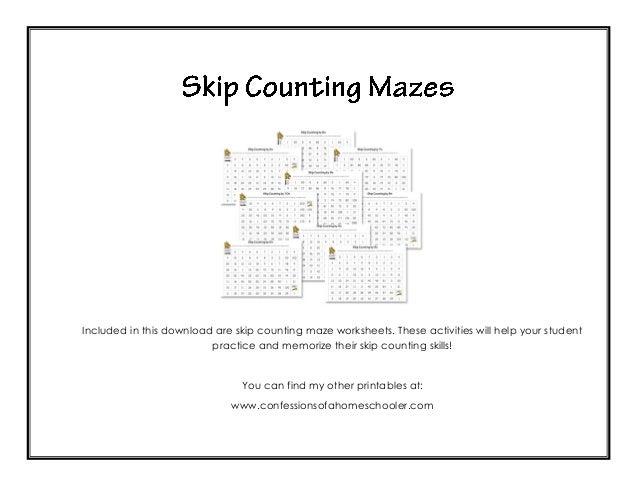 skip count mazes. Black Bedroom Furniture Sets. Home Design Ideas