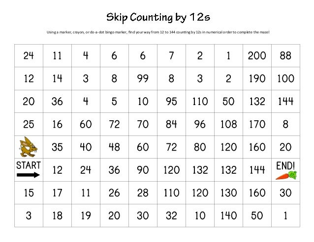 Counting worksheets 1 200