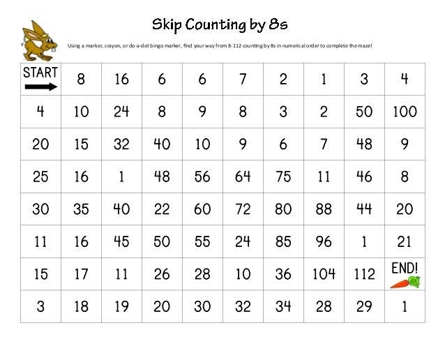 Skip Count Mazes