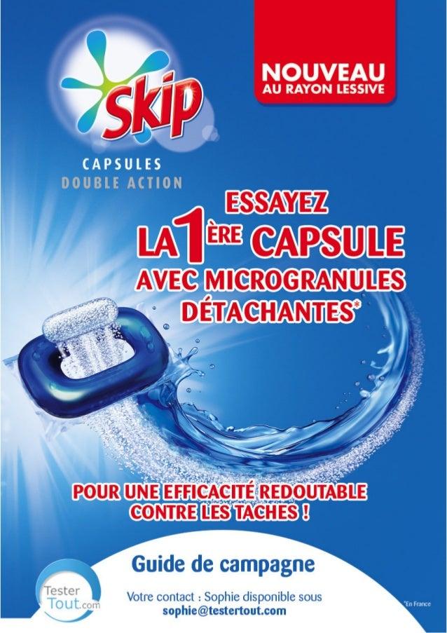 Capsules SKIP DOUBLE ACTION - miniguide TesterTout