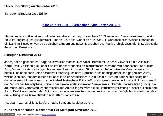 """Alles über Skiregion Simulator 2013  Skiregion-Simulator Gold Edition                                             Klicke ..."