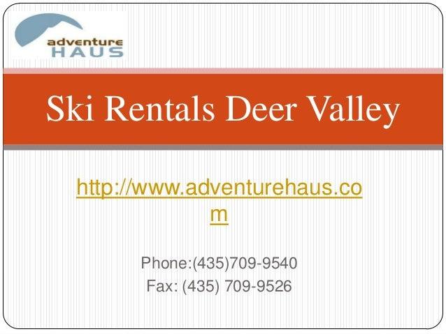 Ski Rentals Heber & Ski Rentals Deer Valley, Utah