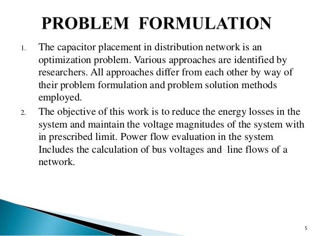 problem formulation and identification essay Problem formulation problem formulation before attempting to solve a problem, we need to first formulate or define the problem it is important to precisely define the problem you intend to solve.