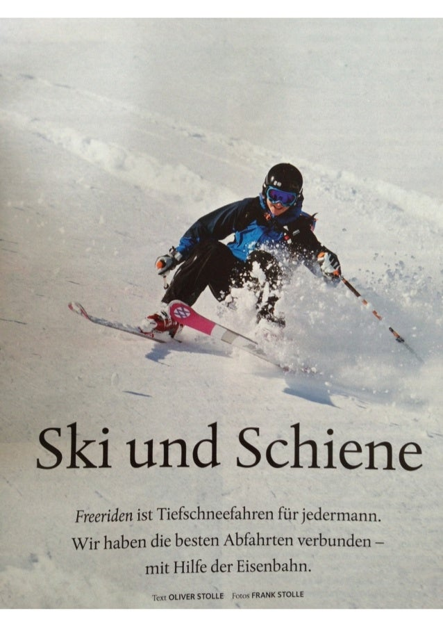 Neon Magazin: Ski und Schiene - Freeriden in der Schweiz