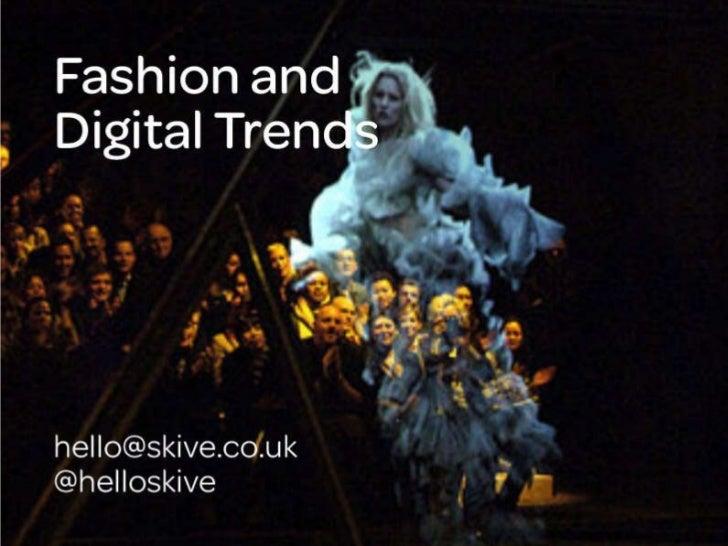 Fashion and Digital Trends Slide 1