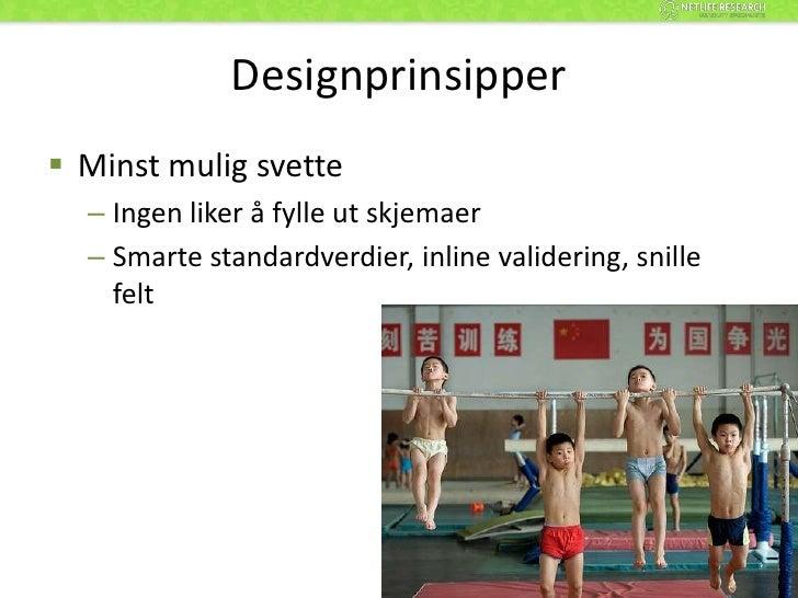 Designprinsipper i skjemadesign<br />