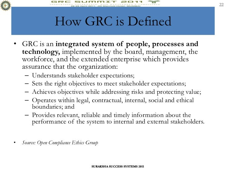 MAINSTREAMING GRC INTO BUSINESS PROCESS