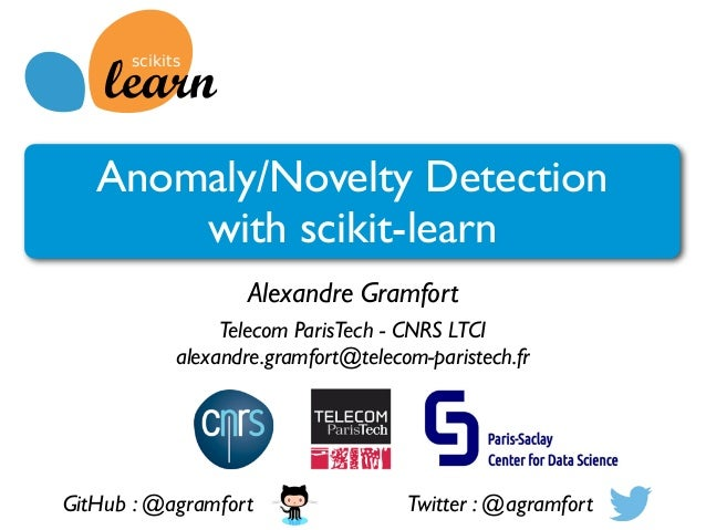 Anomaly/Novelty detection with scikit-learn