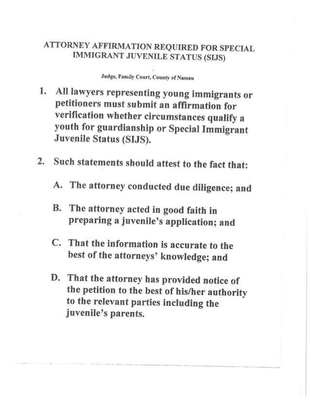 Information request regarding sijs 10 attorney affirmation altavistaventures Gallery