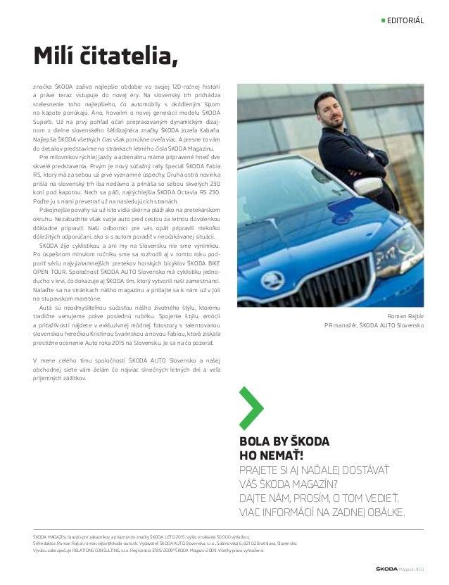 ŠKODA magazín leto 2015 Slide 3