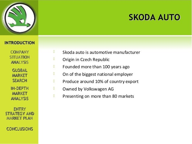 Market and strategy analysis of skoda