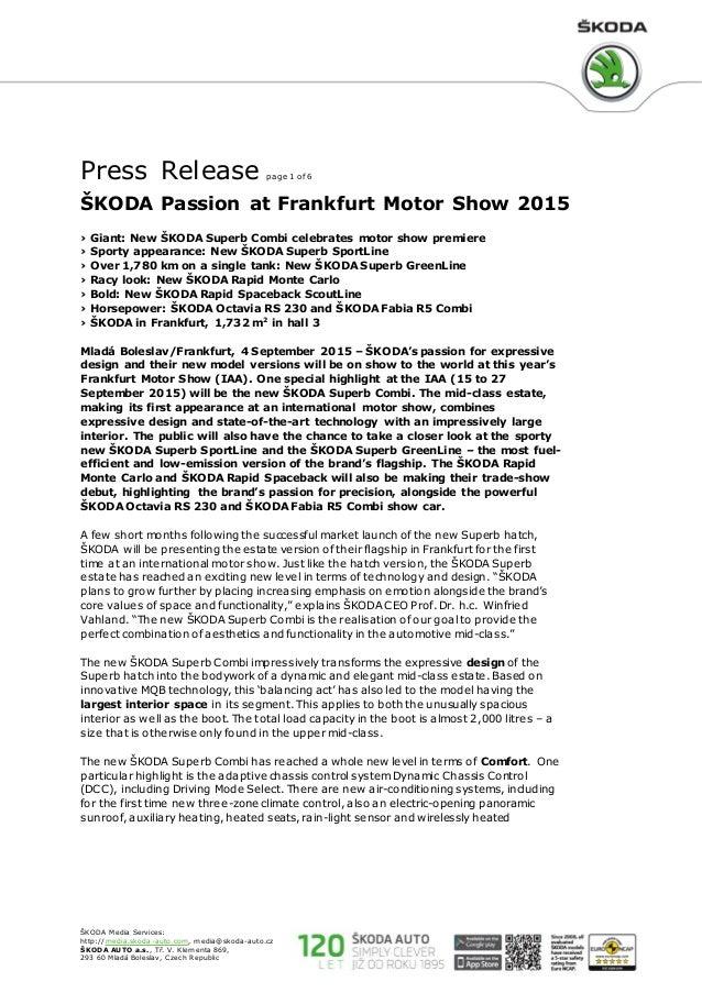 4758daf68e7507 Skoda superb sport line press release