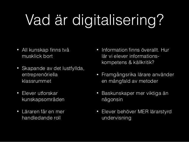 vad är digitalisering